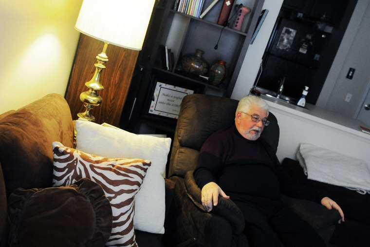"""Bill Lowden, 70, a resident of the John C. Anderson Apartments, says affordable housing is """"very important"""" to him."""