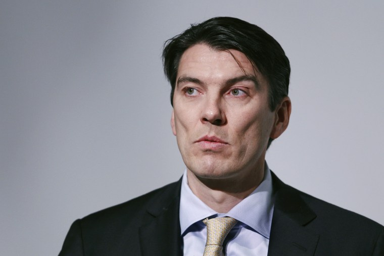 Tim Armstrong, chairman and CEO of AOL, speaks during the Bloomberg Media Summit in New York, March 10, 2011.