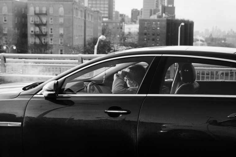 Morning rush hour in the George Washington Bridge.