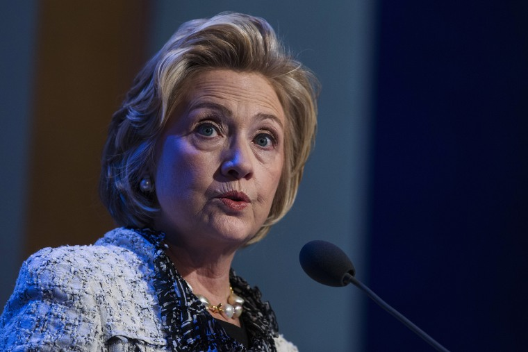 Hillary Clinton speaks during a Clinton Global Initiative conference in New York, Sept. 25, 2013.