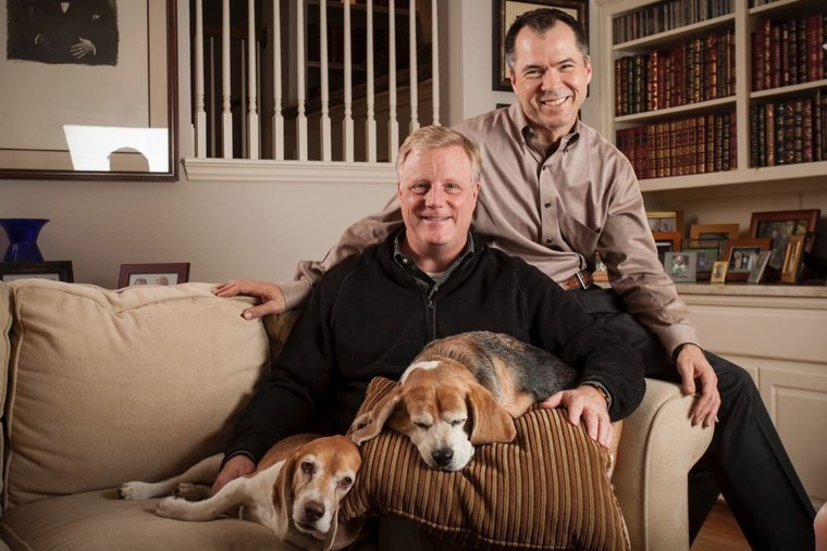 Mark Phariss and Victor Holmes at home in Plano, Texas.