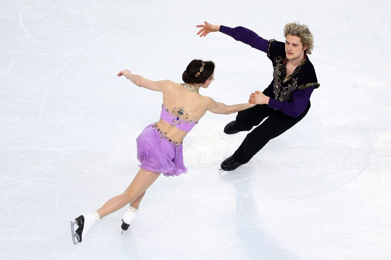 Meryl Davis and Charlie White of the United States compete in the Figure Skating Ice Dance Free Dance, Feb. 17, 2014.