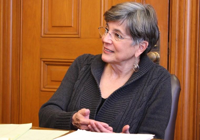 Kansas Senate President Susan Wagle in her Statehouse office in Topeka, Kansas, Tuesday, Jan. 7, 2014.