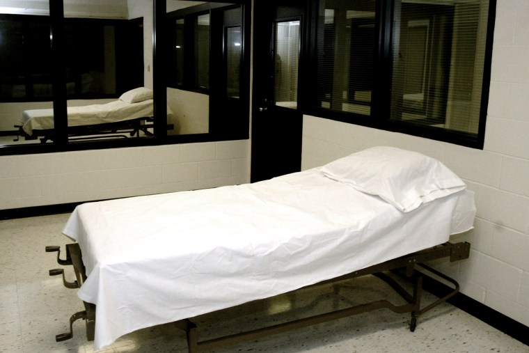 The execution chamber at the Missouri Correctional Center in Bonne Terre, Mo.