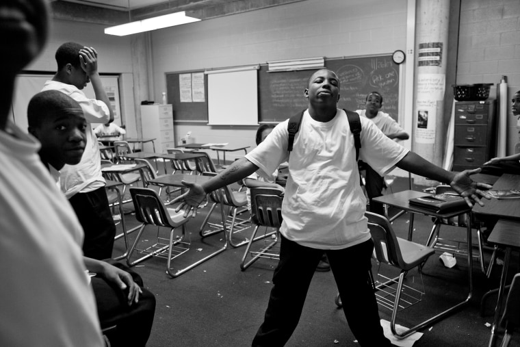 Students at Robeson High, in one of Chicago's most dangerous neighborhoods, Englewood.