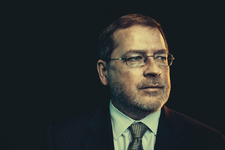 President of Americans for Tax Reform Grover Norquist in Washington, DC, Nov. 6, 2013.