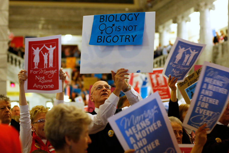 Pro and Anti-Gay Marriage Activists Rally At Utah's Capitol