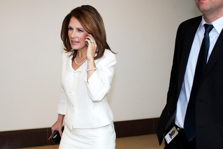 Michele Bachmann arrives for a hearing about Benghazi, Nov. 15, 2012.