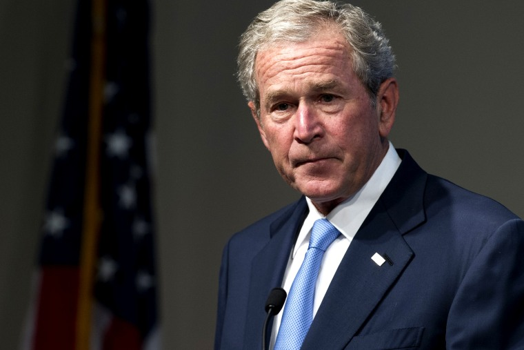 Former President George W. Bush speaks during an event, May 15, 2012, in Washington, DC.