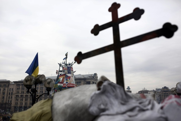 Following the release of Yulia Tymoshenko the former PM of Ukraine, Ukrainians keep holding the Maidan Nezalezhnosti, the Independence Square upon the call of Tymoshenko for continuing February 23, 2014.