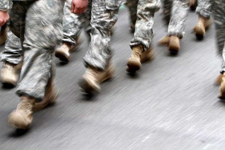 U.S. Army soldiers marching in the St. Patrick's Day Parade, March 16, 2013, in New York,, NY.