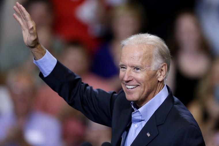 Vice President Joe Biden waves at an event, Aug. 23, 2013, in Scranton, Pa.