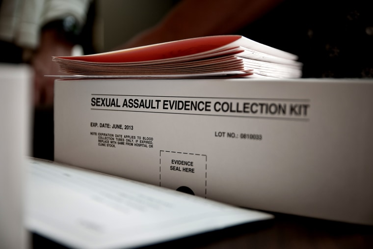 A sexual assault evidence collection kit at St. David's Medical Center in Austin TX.