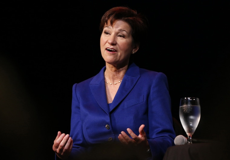 Democrat Alex Sink speaks during a candidate forum in Clearwater, Florida, February 25, 2014.