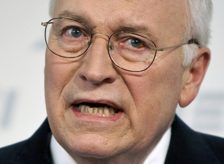 Former U.S. Vice President Dick Cheney speaks about national security at the American Enterprise Institute in Washington in this file photo from May 21, 2009.