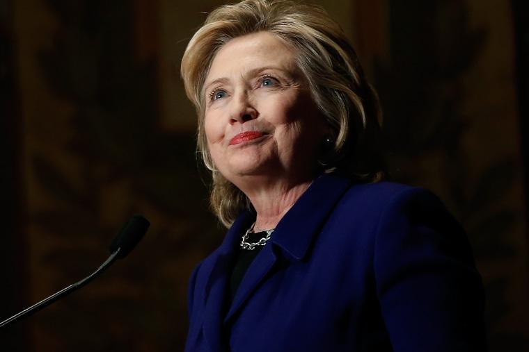 Former U.S. Secretary of State Hillary Clinton speaks on Feb. 25, 2014 in Washington, DC.