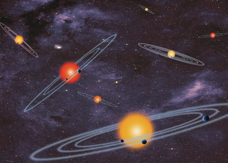 This handout artist conception provided by NASA depicts multiple-transiting planet systems, which are stars with more than one planet.