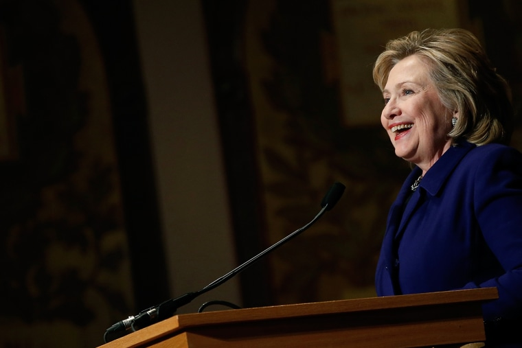 Former U.S. Secretary of State Hillary Clinton speaks at Georgetown University on Feb. 25, 2014 in Washington, DC.