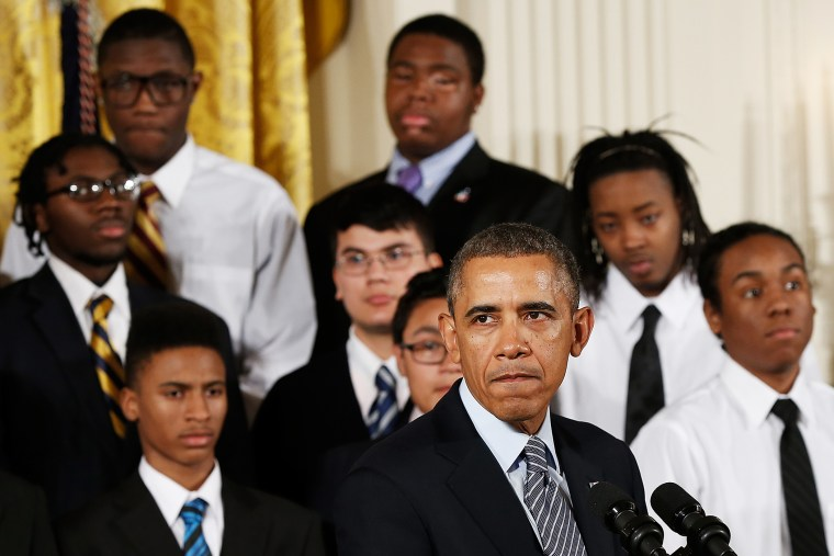 Barack Obama speaks about his My Brother's Keeper initiative at the White House, Feb. 27, 2013.