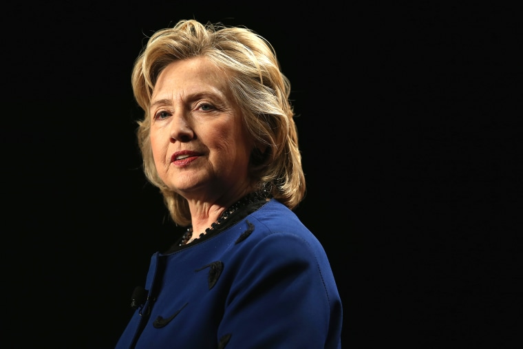 Hillary Clinton speaks during an event, Feb. 26, 2014, in Coral Gables, Fla.