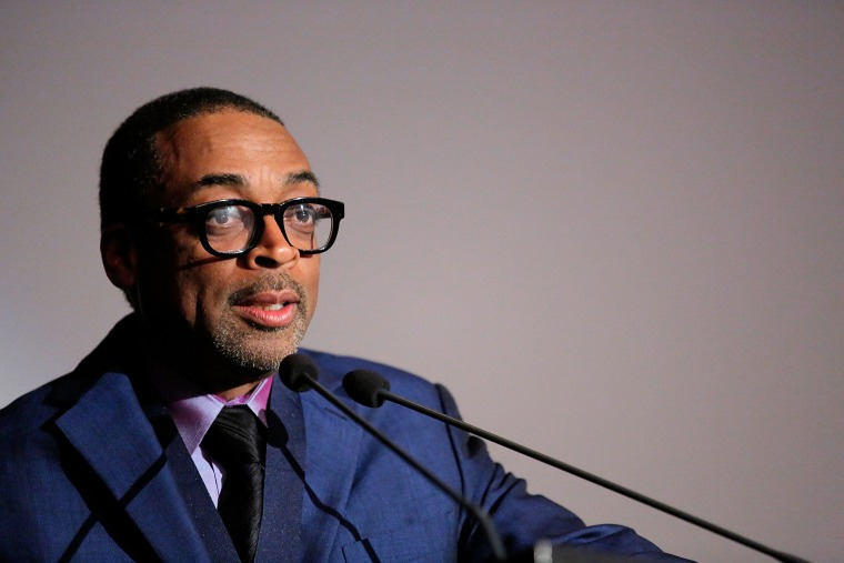 Spike Lee speaks after he is awarded the 20th Annual Dorothy And Lillian Gish Prize, Oct. 30, 2013.