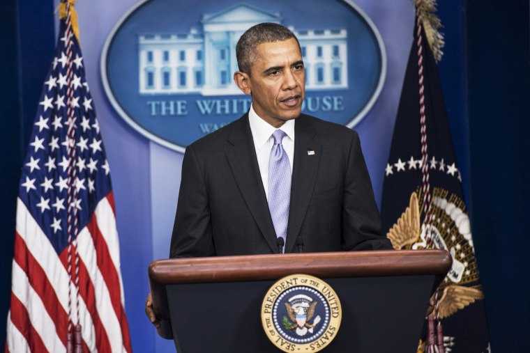 President Obama speaks about the situation in Ukraine on February 28, 2014.
