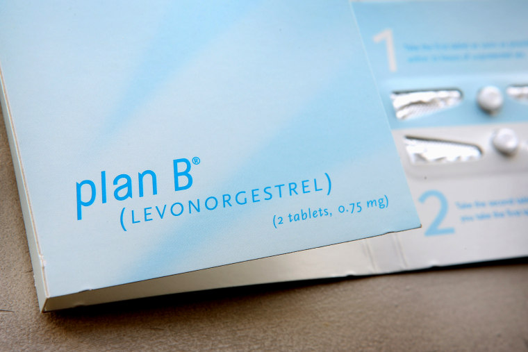 A package of Plan B contraceptive.