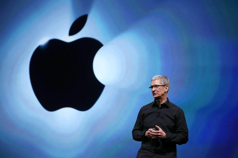 Apple CEO Tim Cook speaks during an Apple special event in San Francisco, Sept. 12, 2012.