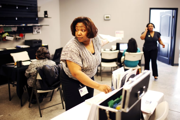 Brenda Dozier at the North Carolina Taxpayer Assistance Center in Durham, N.C.