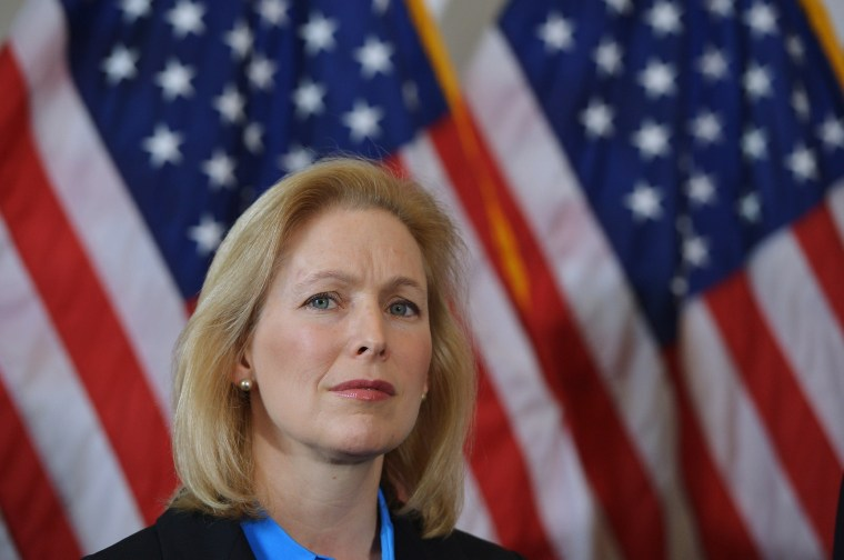 Senator Kirsten Gillibrand, D-NY, in the Russell Senate Office Building on Capitol Hill in Washington, D.C. on February 6, 2014.
