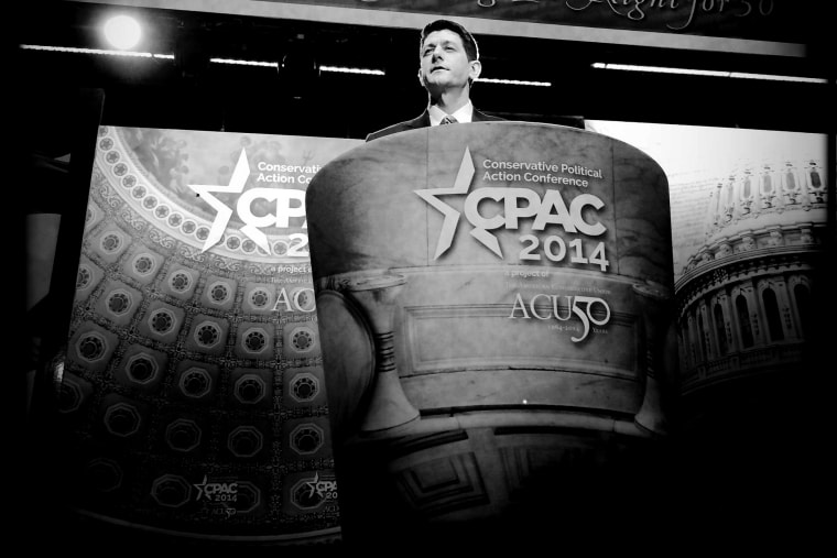 Rep. Paul Ryan (R-WI) speaks at CPAC on March 6, 2014.