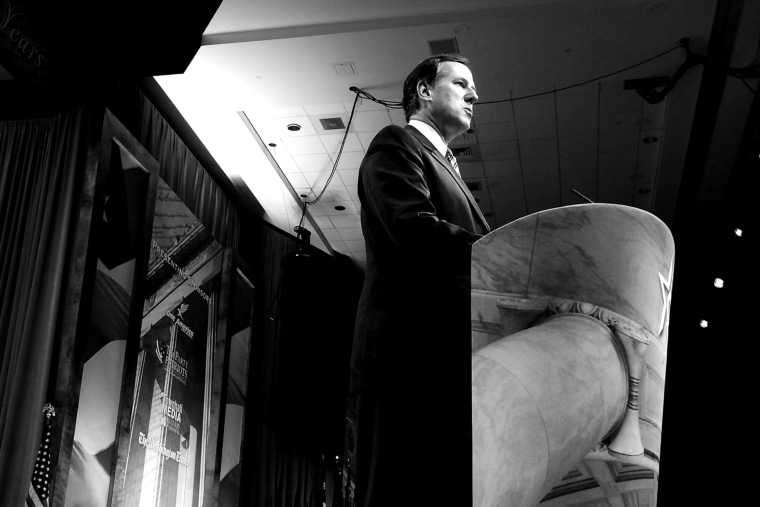 Rick Santorum speaks at CPAC, Mar. 7, 2014.