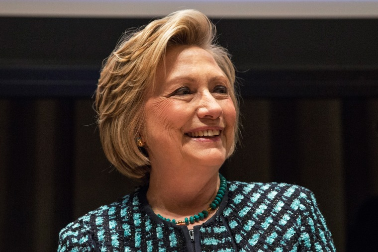 "Hillary Clinton attends the event ""Equality for Women is Progress for All"" at the United Nations, March 7, 2014."