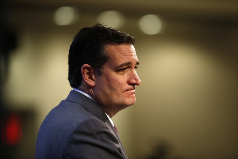 Sen. Ted Cruz, R-Texas, speaks at an event at the Heritage Foundation, Feb. 10, 2014, in Washington.