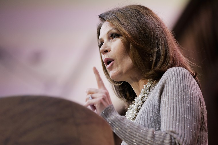 U.S. Rep. Michele Bachmann speaks at CPAC in National Harbor, Maryland, Mar. 8, 2014.