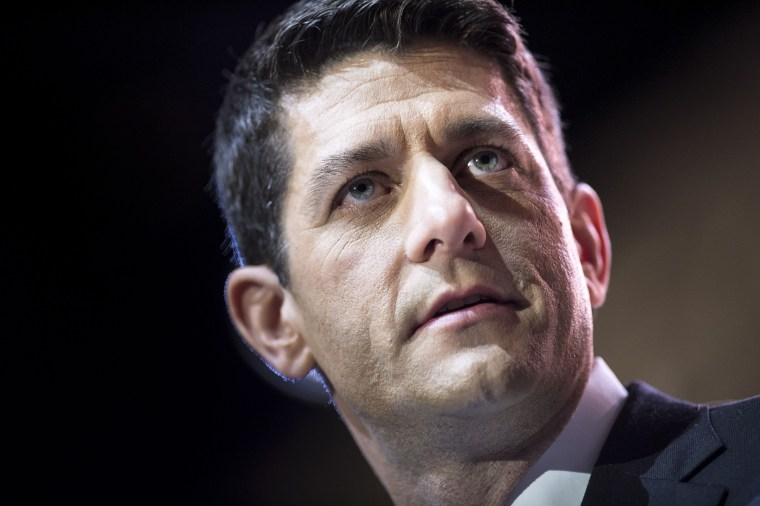 Rep. Paul Ryan (R-WI), House Budget Committee Chairman, speaks during the American Conservative Union Conference March 6, 2014 in National Harbor, Washington.