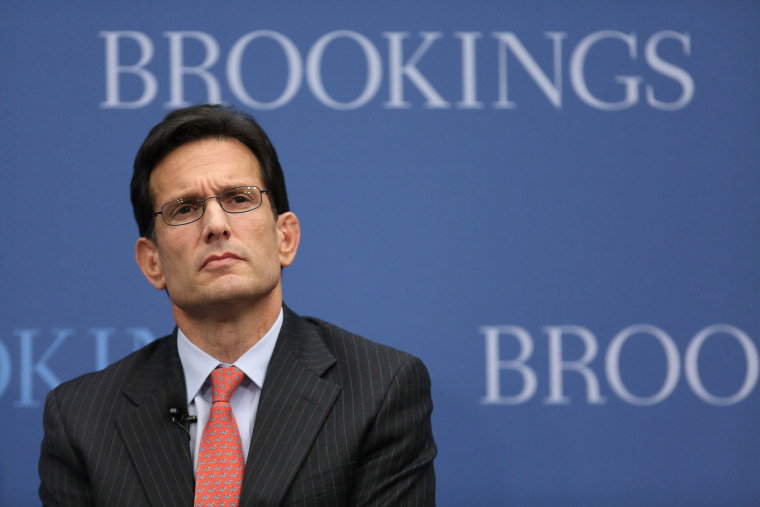 House Majority Leader Eric Cantor (R-VA) delivers remarks at the Brookings Institution January 8, 2014 in Washington, D.C.