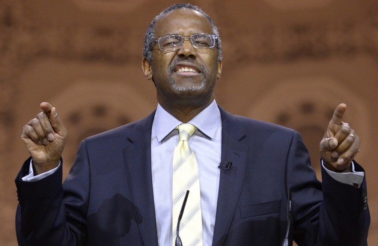 Dr. Ben Carson speaks at the Conservative Political Action Conference (CPAC), at the Gaylord National Resort and Convention Center in National Harbor, Maryland, March 8, 2014.