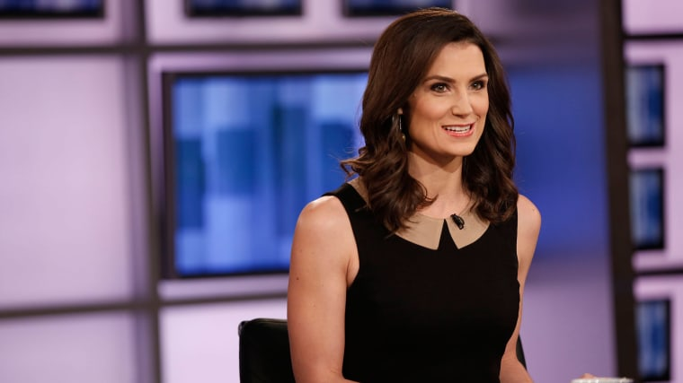Krystal Ball, co-host of The Cycle on set.
