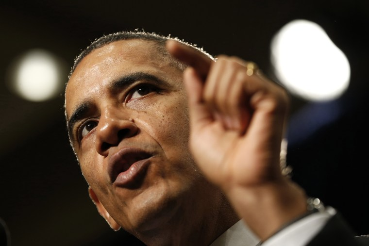 President Barack Obama speaks at the House Democratic Issues Conference, Feb. 14, 2014, in Cambridge, Md.