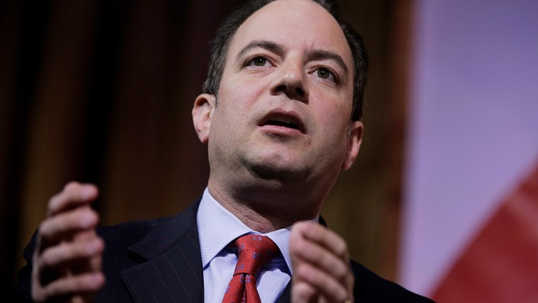Reince Priebus, chairman of the Republican National Committee, speaks on a panel during the 41st annual Conservative Political Action Conference on March 8, 2014 in National Harbor, Md.