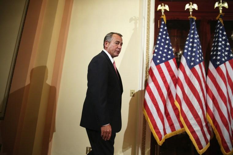 U.S. Speaker of the House Rep. John Boehner (R-OH) on Capitol Hill in Washington, DC.