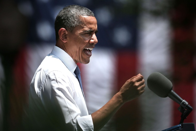 President Obama speaks as he unveils his plan on climate change at Georgetown University, June 25, 2013.