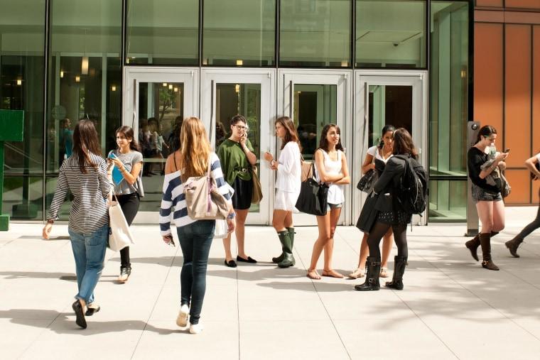 College Students In Between Class
