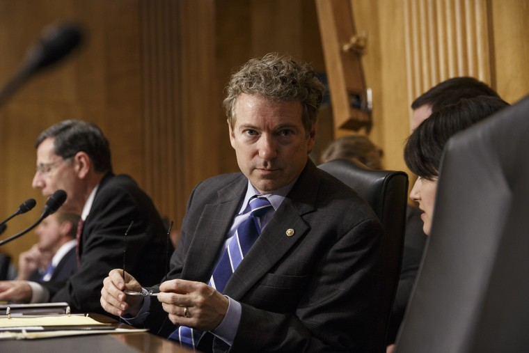 Sen. Rand Paul, (R-KY), on Capitol Hill in Washington, on March 12, 2014.