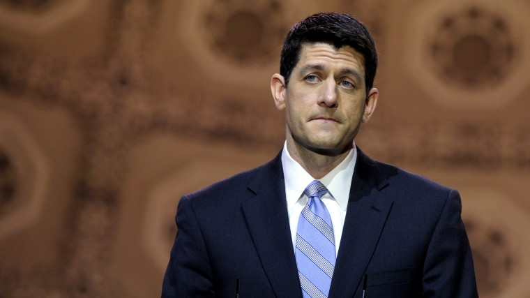 Rep. Paul Ryan (R-Wis.) speaks at the Conservative Political Action Conference in National Harbor, Md., March 6, 2014.