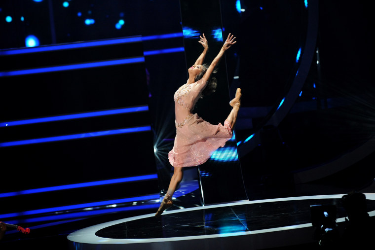Ballet dancer Misty Copeland performs during the BET Black Girls Rock show at New Jersey Performing Arts Center, Oct. 26, 2013 in Newark, NJ.