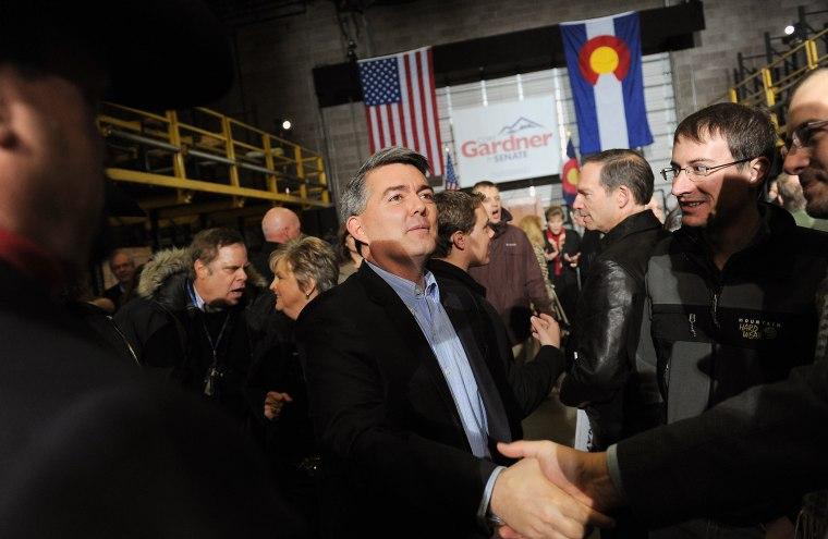 Colorado Republican Congressman Cory Gardner in Denver on Saturday, March 1, 2014.