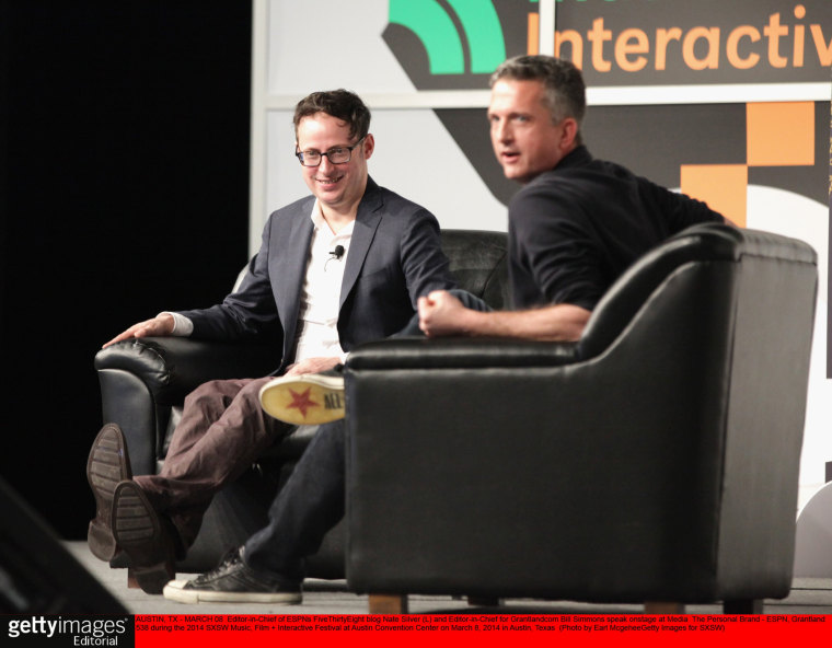 Editor-in-Chief of ESPN's FiveThirtyEight blog Nate Silver during the 2014 SXSW Music, Film + Interactive Festival at Austin Convention Center on March 8, 2014 in Austin, Texas.