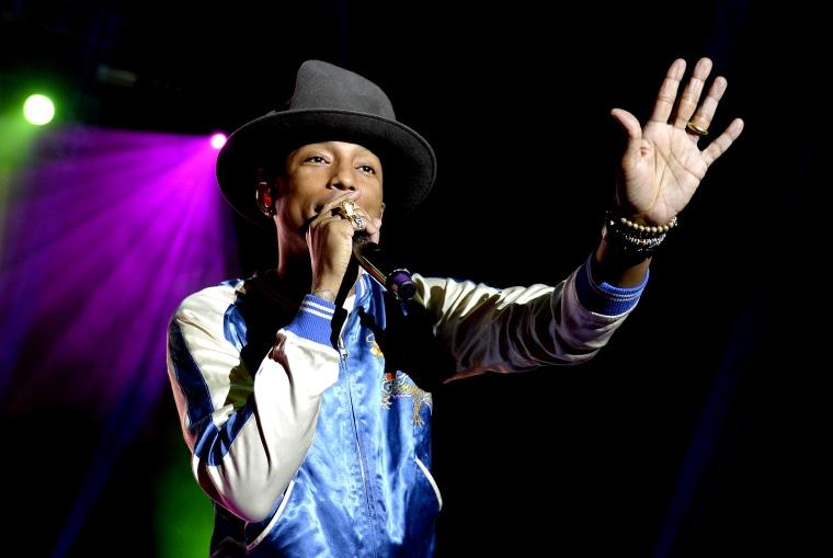 Pharrell Williams performs on March 12, 2014 in Brisbane, Australia.